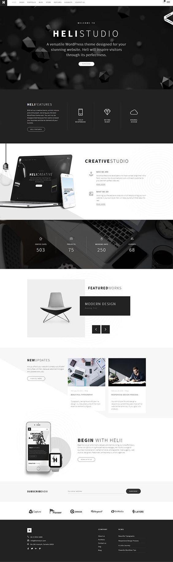 Heli - Creative Multi-Purpose WordPress Theme by ThemeMove