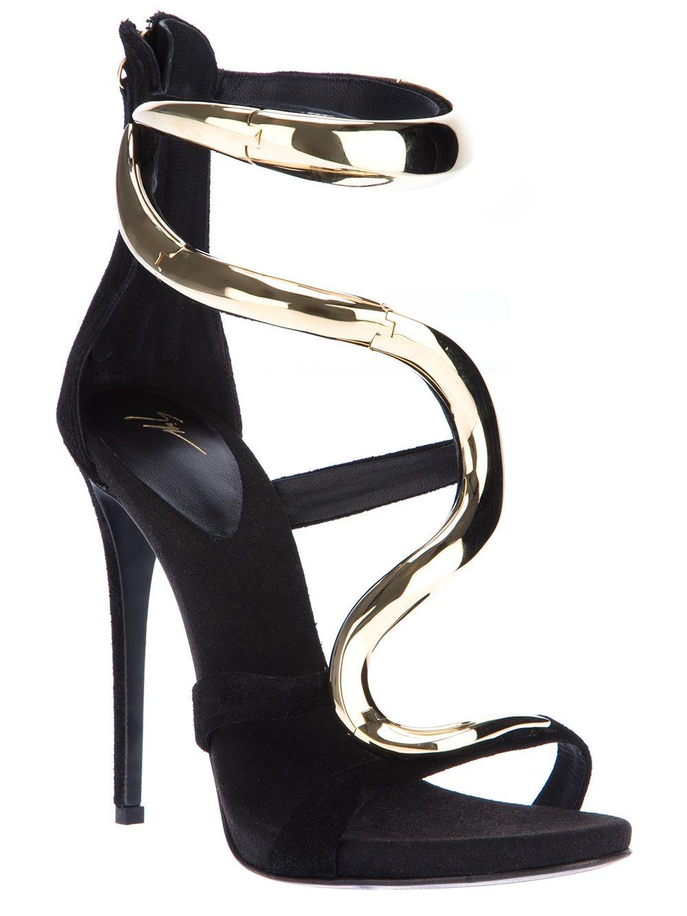 e42aa213f Giuseppe Zanotti... stiletto snake sandal | Shoes | Shoes, Giuseppe ...