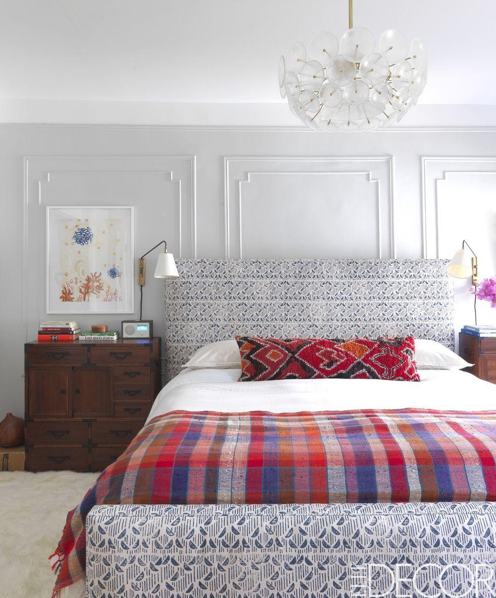 Elle decor master bedroom  Kate Reynolds Brooklyn townhouse  Elle Decor  mis favoritos