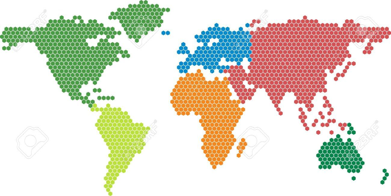 Vector world map with colored continents royalty free cliparts vector world map with colored continents royalty free cliparts vectors and stock illustration gumiabroncs Images