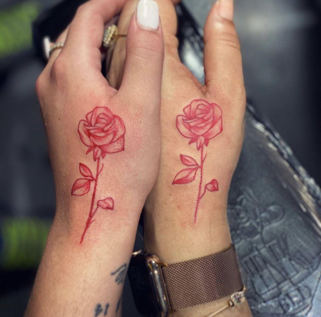 Red Rose Tattoo Red Ink Tattoos Red Tattoos Pink Rose Tattoos