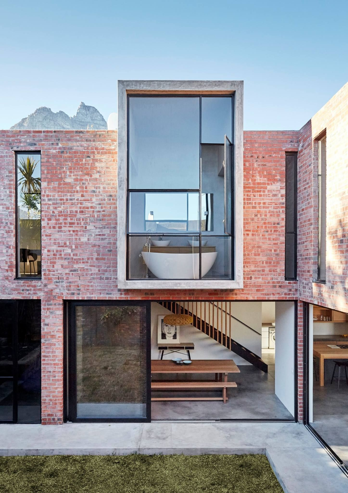 L House Livingstone Baths House Cladding Brick Exterior House House Designs Exterior