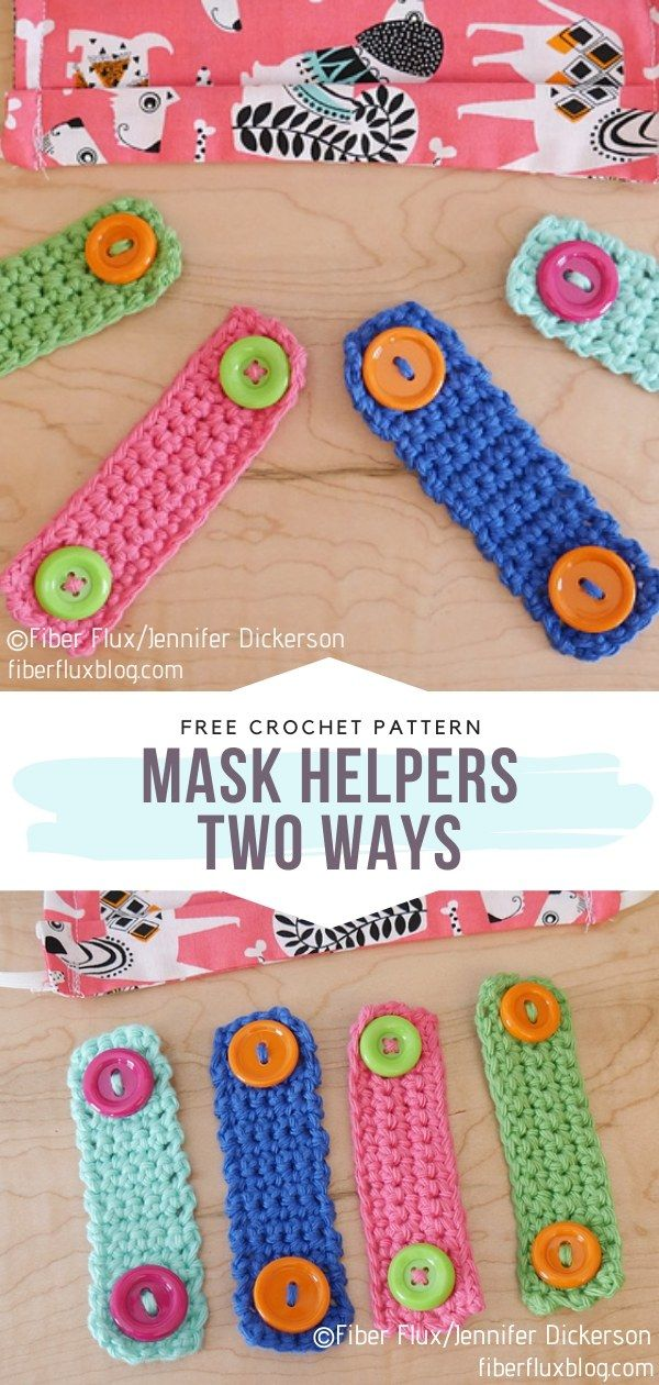 How to Crochet Mask Helpers Two Ways