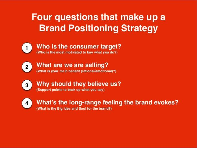 Brand Positioning Strategy Four Questions Brand Positioning Strategy Brand Positioning Statement This Or That Questions