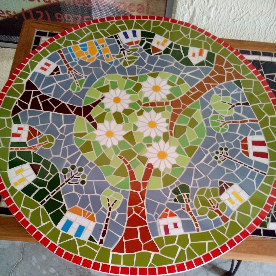 Pin de Odette Arriaza en mosaico   Pinterest   Mesa de mosaico ...