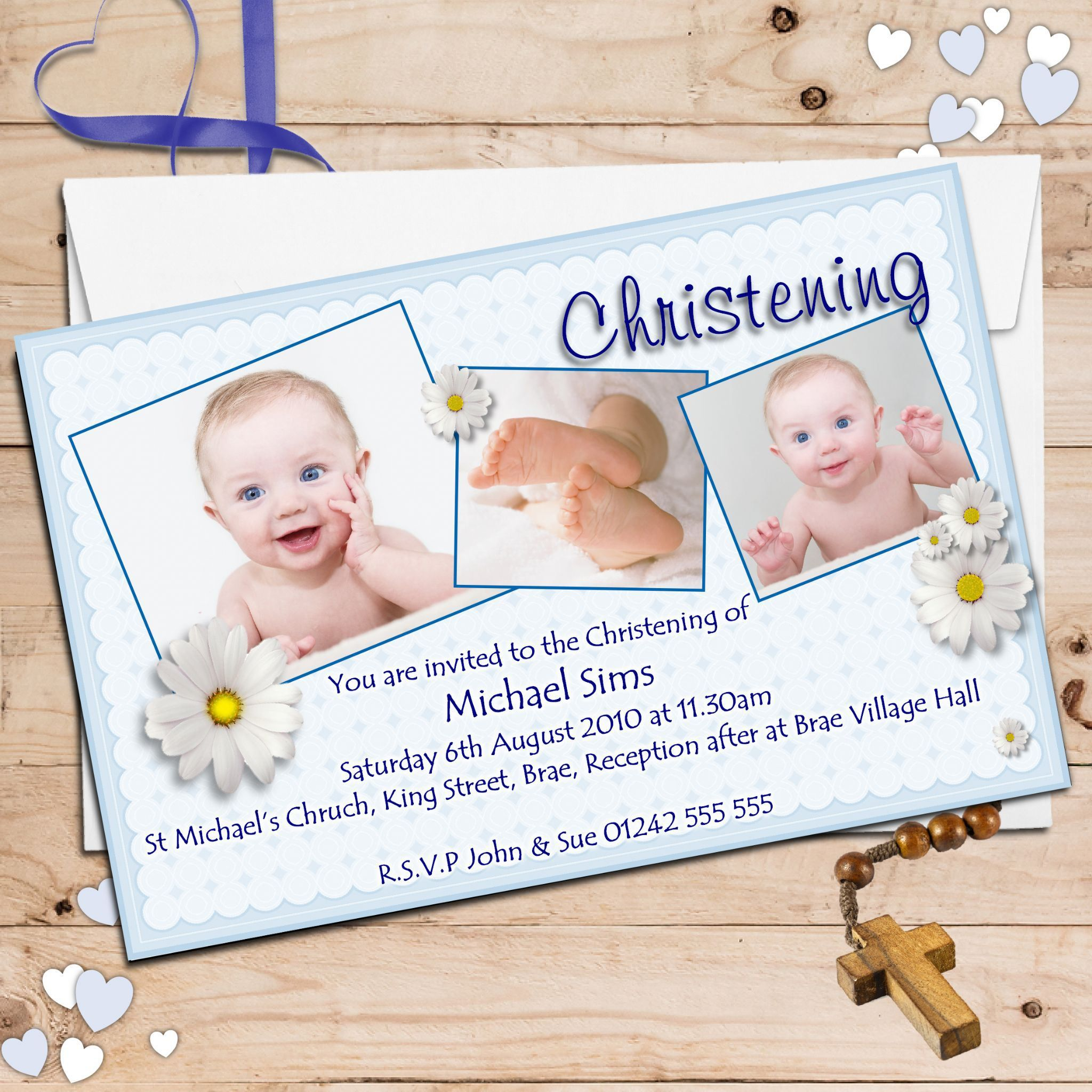 invitation card maker baptism invitations