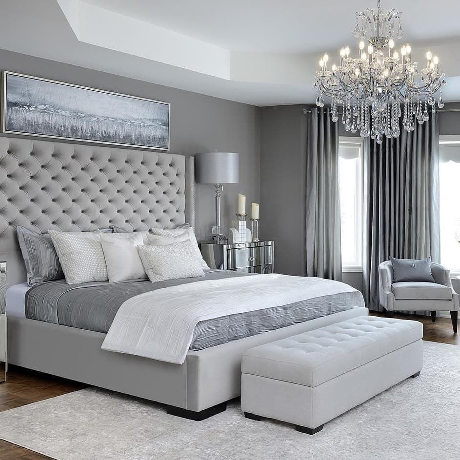 Home Interior Inspiration On Instagram How Many Shades Of Grey Do You See Comment Bel Grey Bedroom Design Simple Bedroom Design Master Bedrooms Decor
