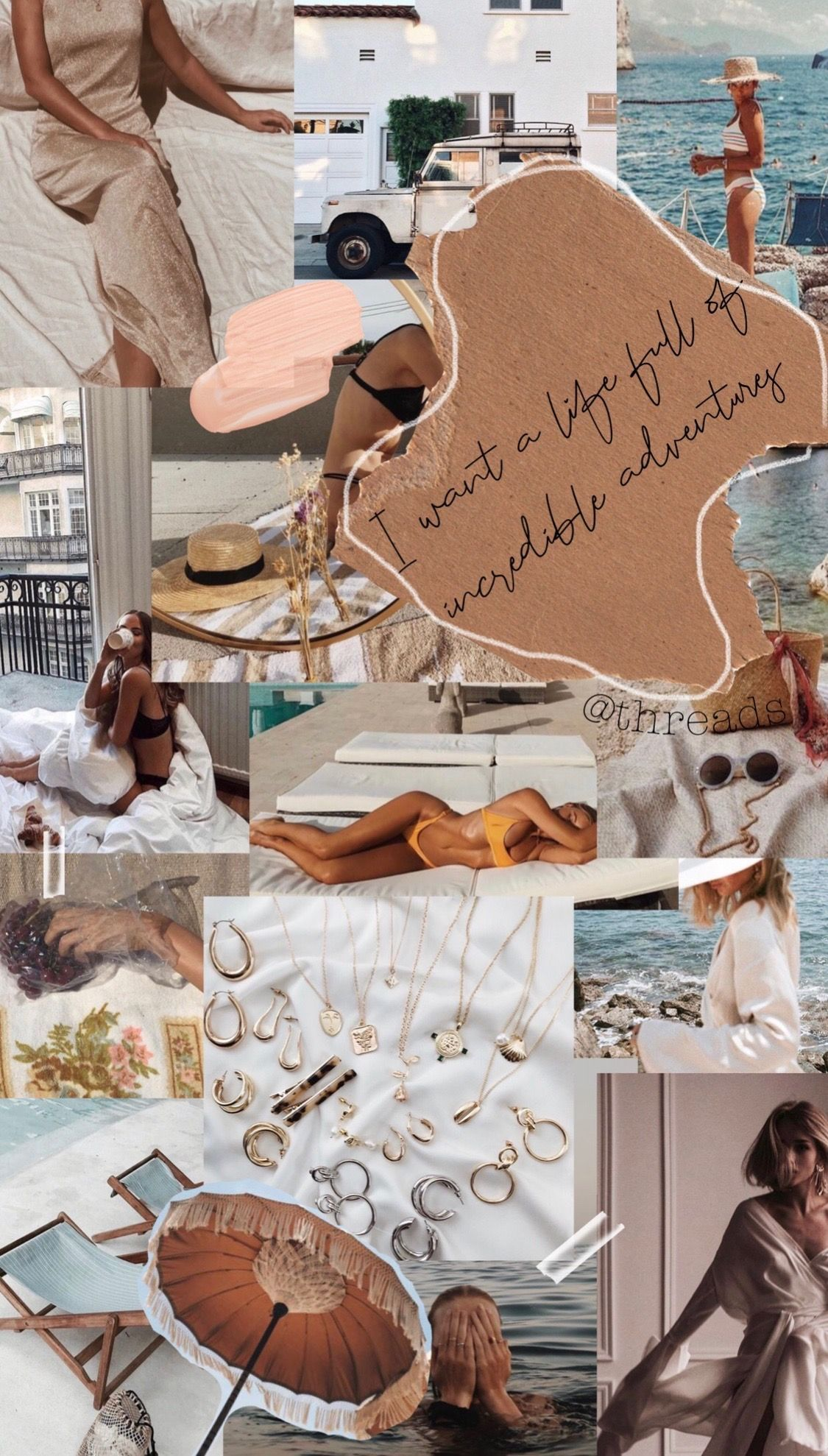 Wanderlust  #fashionmoodboard collage, moodboard, vision board, clothes, vogue, ...