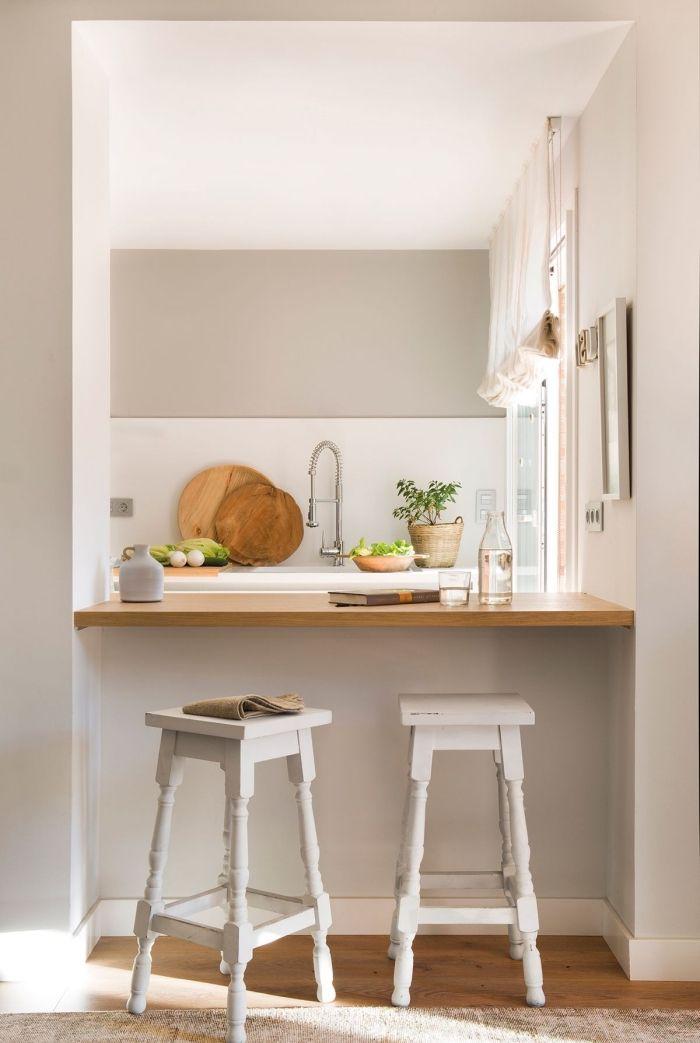 ▷ 1001 + modèles fascinants du duo cuisine blanche plan de travail