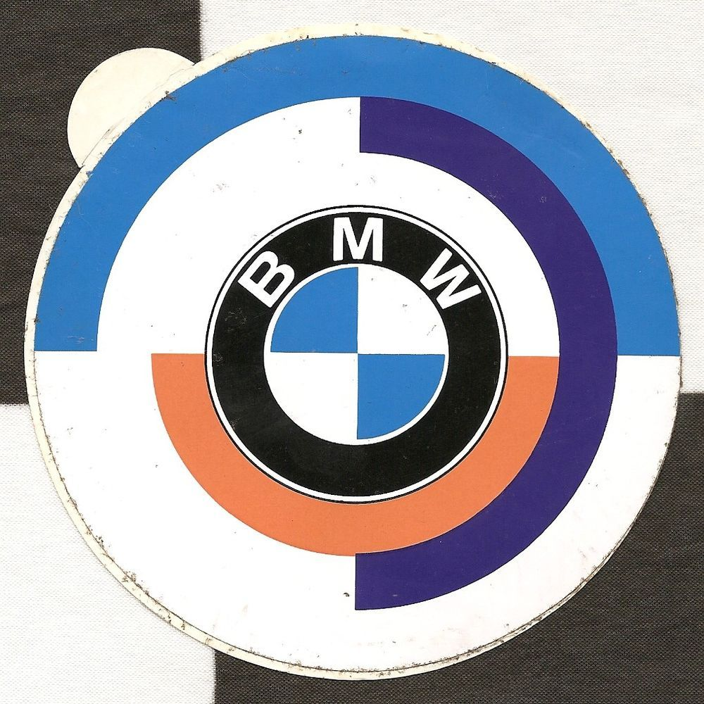 Bmw motorsport m sport original period racing sticker autocollant 3 0 csl ufo