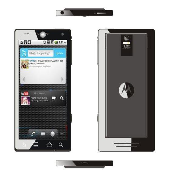 Nuevo celular Motorola Android contiene una pantalla  de 4,78 pulgadas,multitáctil, una cámara de 8 megapíxeles con flash dual LED y captura de vídeo HD 720p./ New Motorola Android phone has a screen of 4.78 inch, multitouch, an 8 megapixel camera with dual LED flash and 720p HD video capture