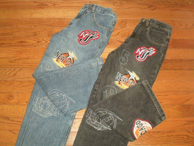 RARE! HTF LOT of 2 pair BOYS 10 HOT HOT DENIM JEANS pants BASKETBALL patches #HotHot #ClassicStraightLeg #Everyday