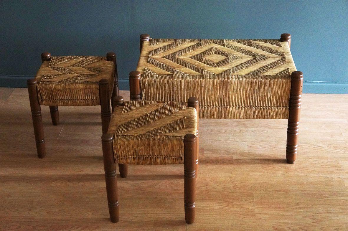 Bancos de palma, tejido original. c1950 | PALMA Y TEJIDOS ...