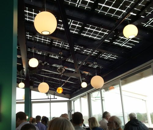 Solar In St Louis The Us First Restaurant Roof Made Entirely Of Solar Panels Moonrise Hotel Bar Sports A Roof Solar Panels Solar Renewable Energy Systems