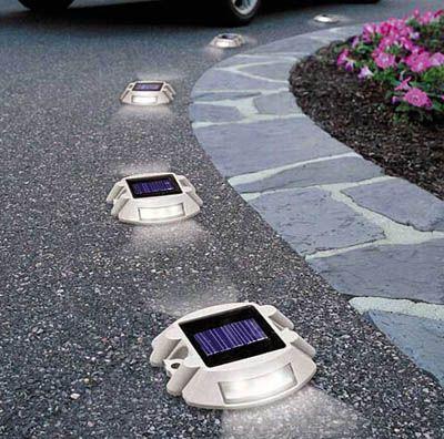 Solar LED Dock Ground Light Outdoor Pathway Deck Patio Driveway Garden Road Lamp