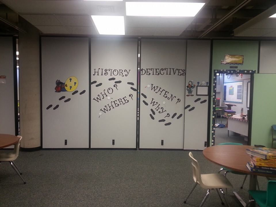 History class door decorations.