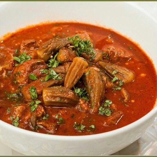 بامية باللحمة Egyptian Food Recipes Food