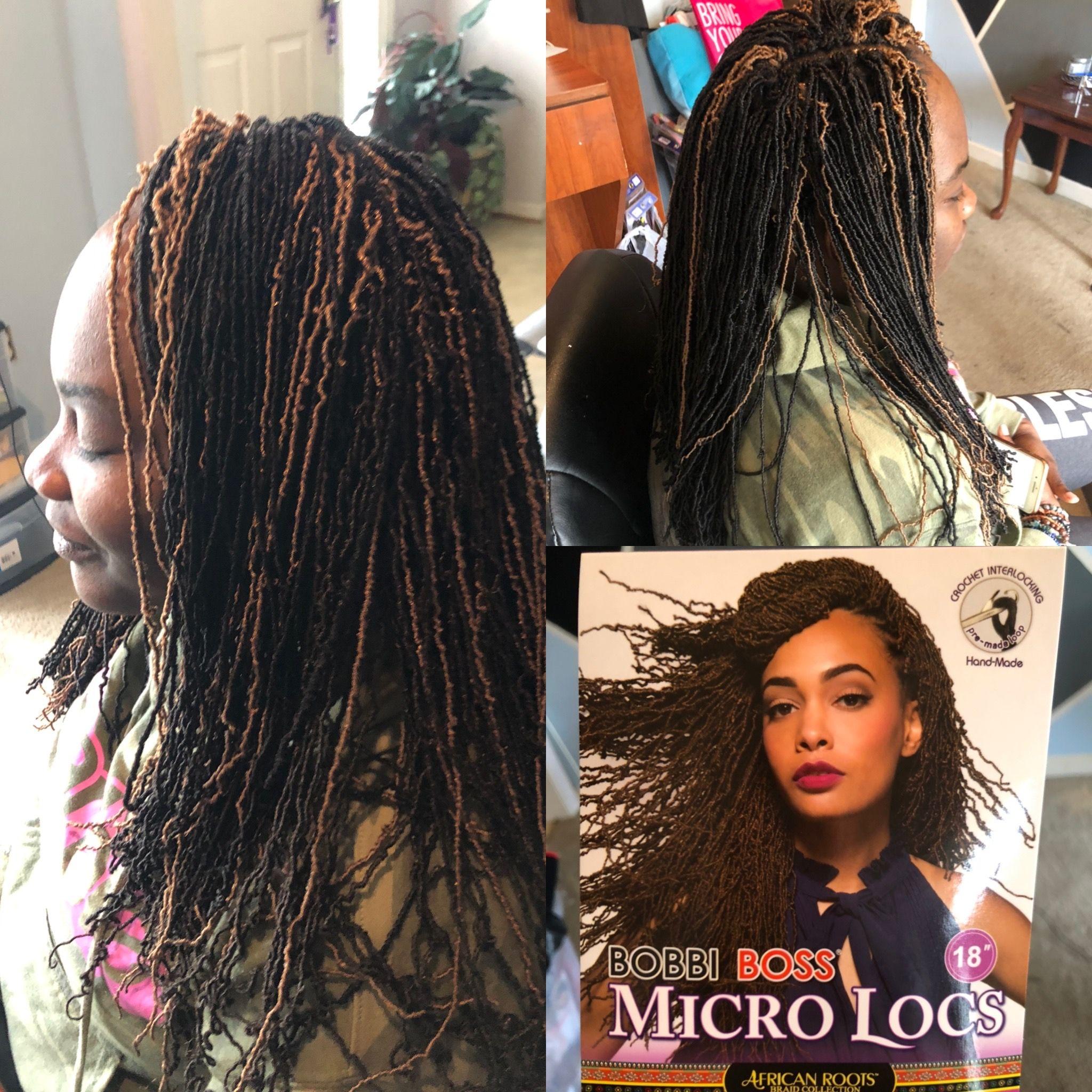 Crochet braids Bobbi boss micro locs, Hair styles