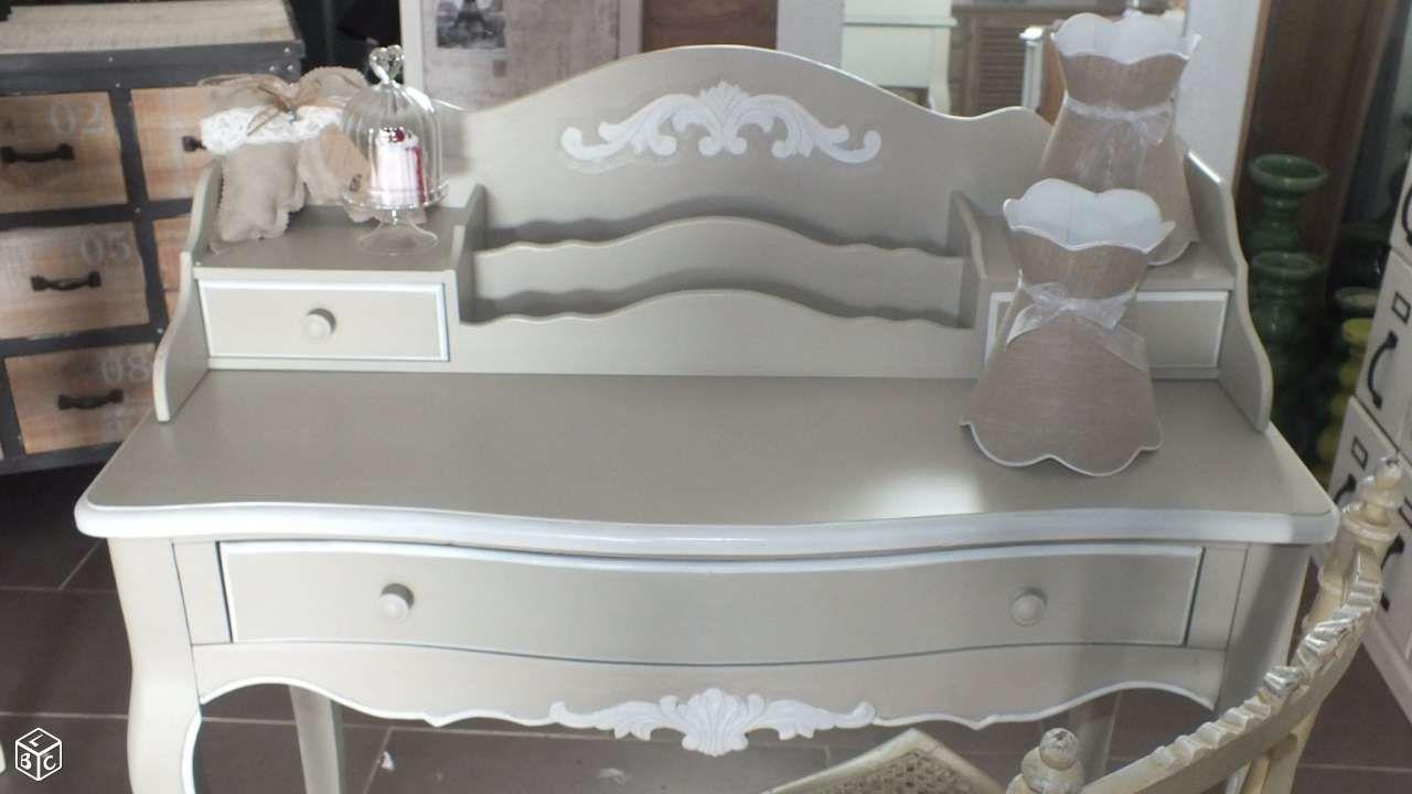 Bureau Lin Et Blanc Patines Anciennes Ameublement Nord Leboncoin Fr Ameublement Mobilier De Salon Blanc