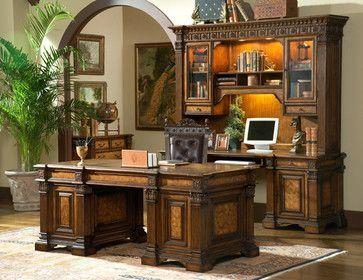 Beauregard Executive Desk - mediterranean - home office - vancouver - Fratantoni Lifestyles