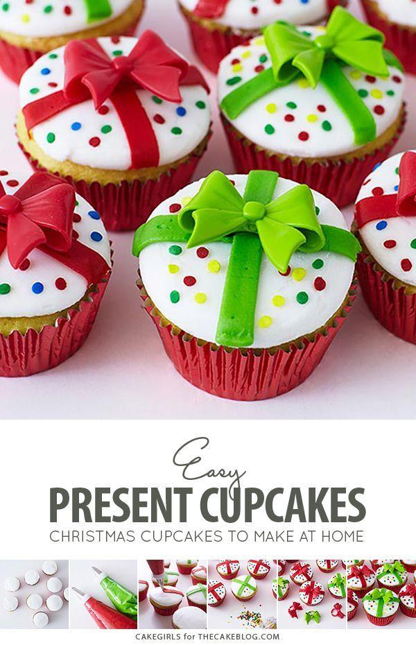 Christmas Present Cupcakes #cupcakenoel