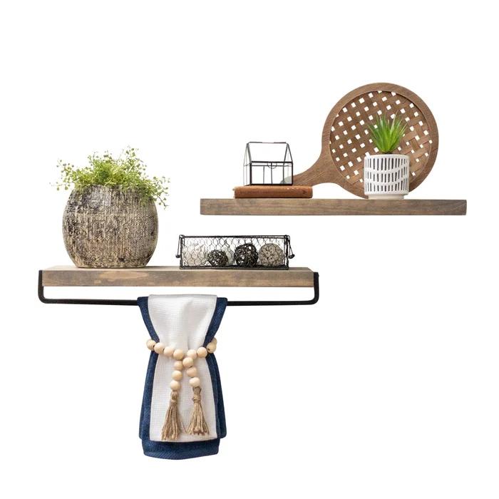 Sunny Side 2 Piece Pine Floating Shelf In 2020 Wood Floating Shelves Floating Shelves Solid Wood Shelves
