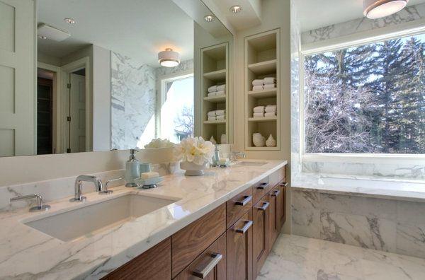 Moderne Badeinrichtung wandregale für badezimmer praktische moderne badeinrichtung