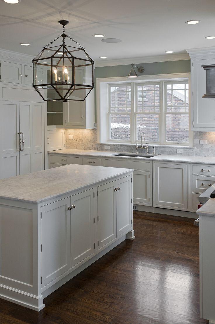 30 Spectacular White Kitchens With Dark Wood Floors Wood Floor Kitchen Kitchen Cabinets Decor White Kitchen