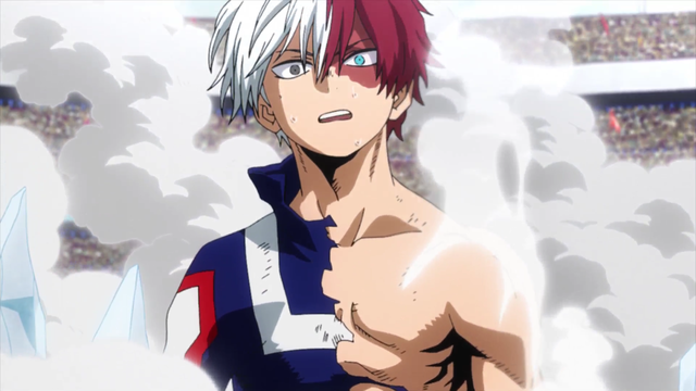 Shoto Todoroki wins the battle (With images) Hero, Anime