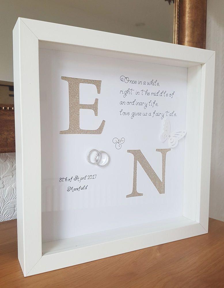 Personalised Wedding , Engagement, Anniversary Framed Gift Keepsake ...