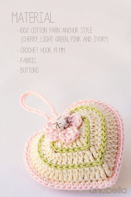 Valentine\'s Day crochet heart easy project | DIY inspirations ...