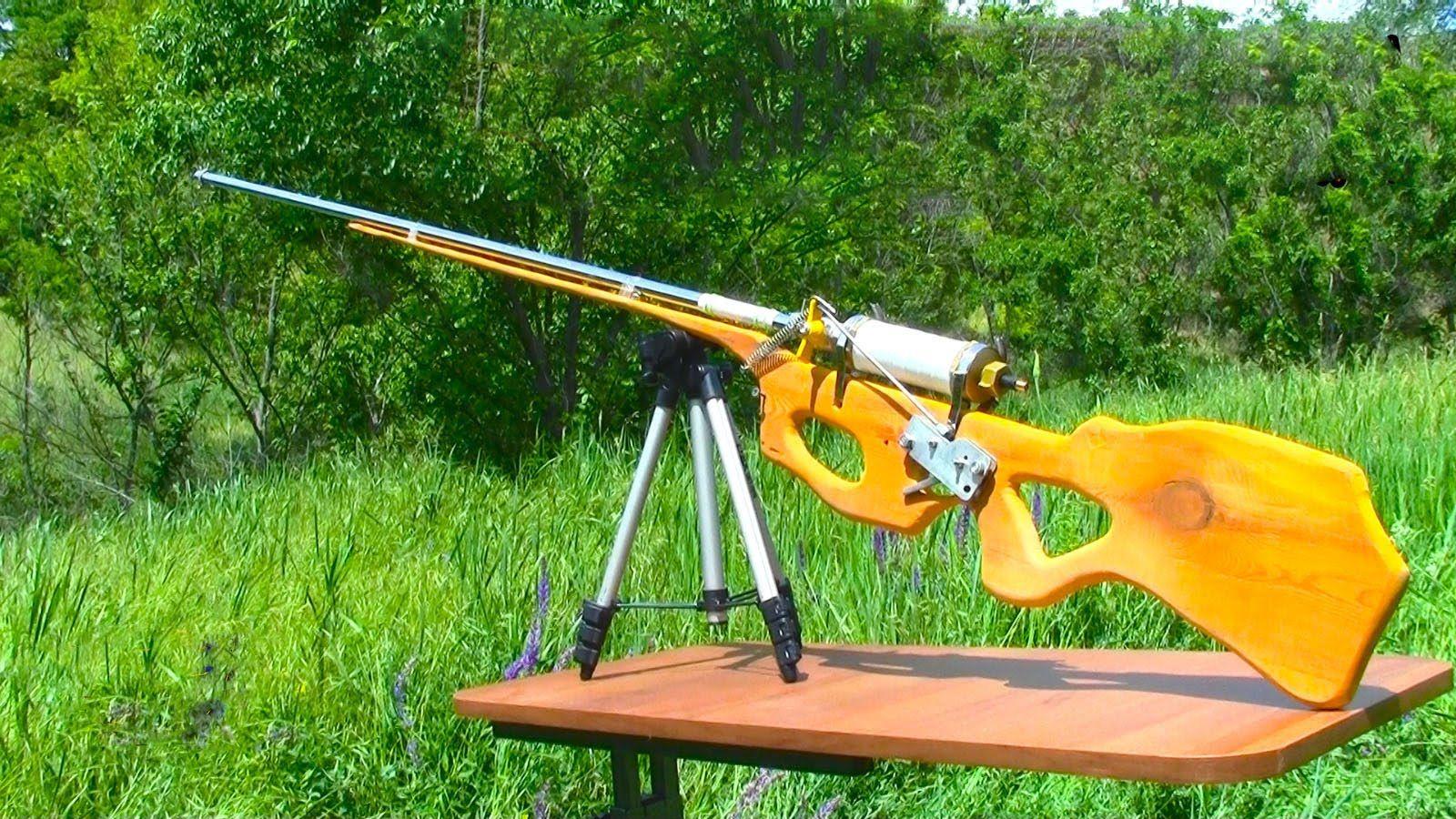 Video) - Homemade pneumatic air-gun | EMMERGENCY PREPAREDNESS | Guns