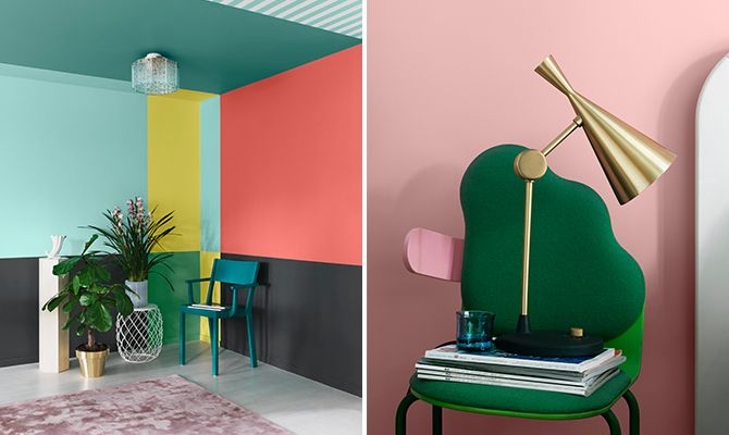 colours and contrasts an alternative to art on the walls wall paint by alcro styling sa a. Black Bedroom Furniture Sets. Home Design Ideas