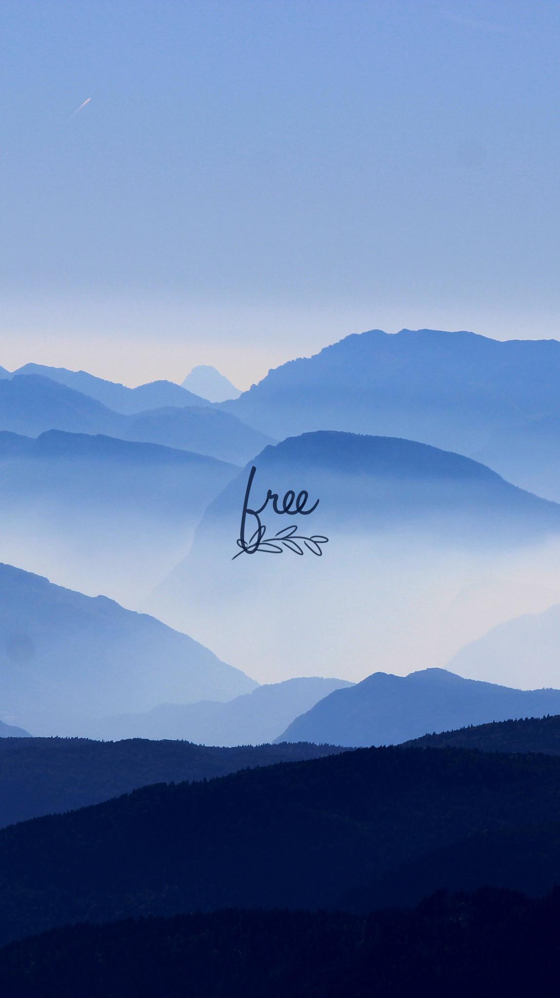 NatureMtns.BlueFree iPhone Mobile Wallpaper EvaLand