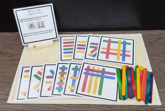 2 in 1 Craft Stick Busy Bag, Game For Kids, Fine Motor Skills, Gift for Kids, Teacher Resources
