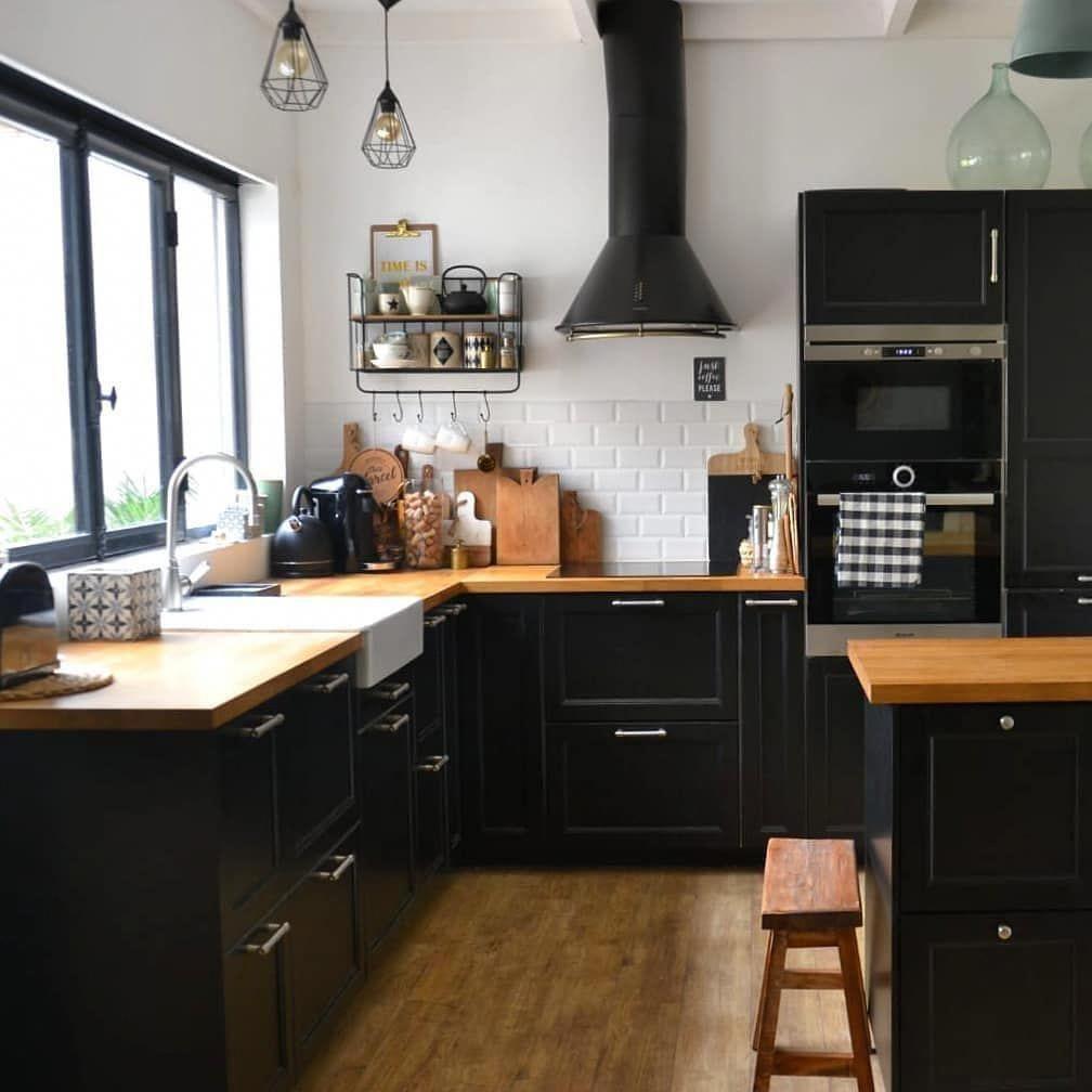 R E N O V A T I O N Je Partage Le Resultat De La Renovation De Notre Cuisine Pour Participe In 2020 White Wood Kitchens Home Decor Kitchen Interior Design Kitchen