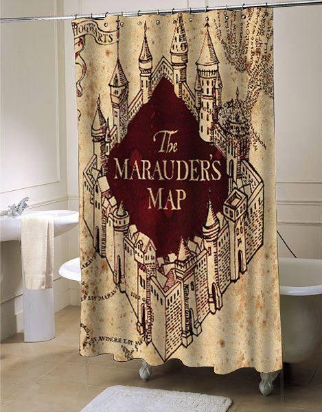 The Marauders Map shower curtain #showercurtain #showercurtains ...