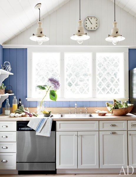 The kitchen of artist Anh Duong's Hamptons cottage.