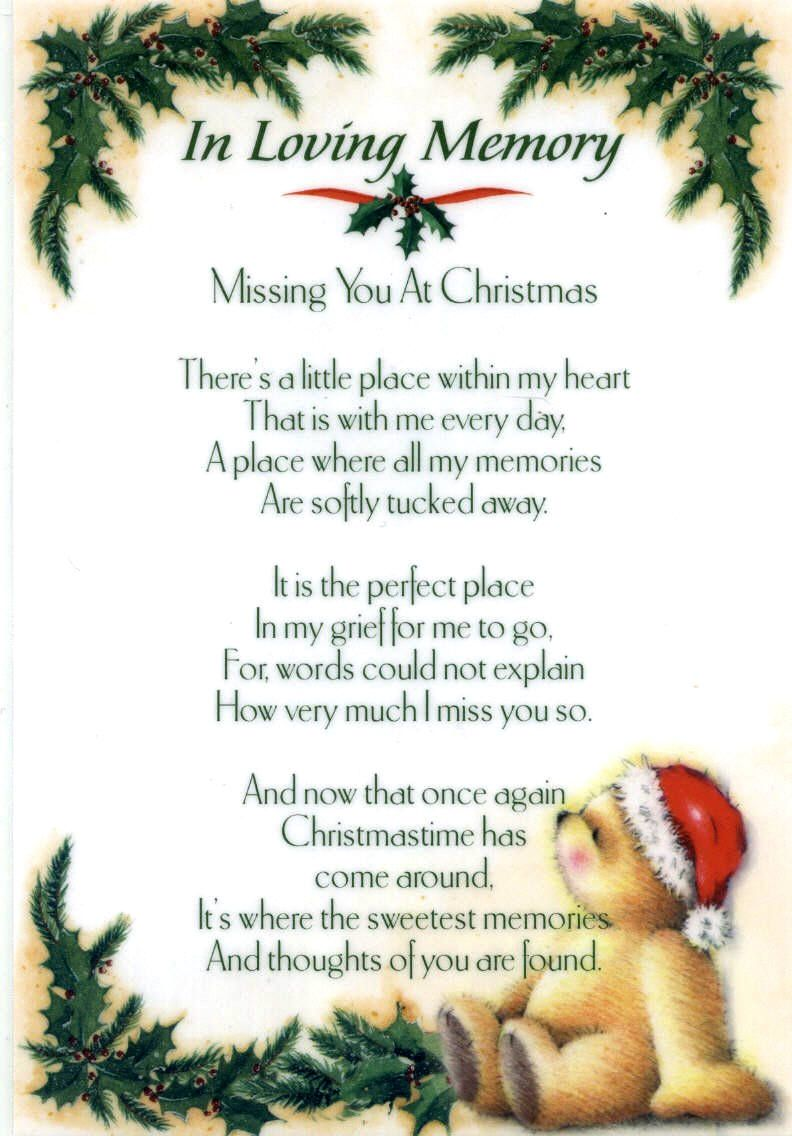 Missing You At Christmas Dad Poems | quotespoem.com | Things to make ...