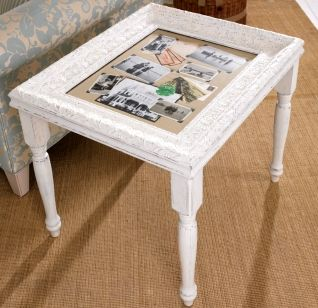 Diy Curio Table With Picture Fram Picture Frame Crafts Home Diy Decor