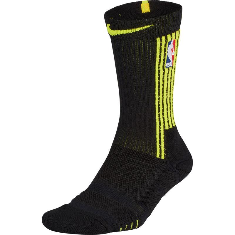 45604aedbc4c Men s Nike Black Atlanta Hawks City Edition Elite Quick Crew Socks Medias
