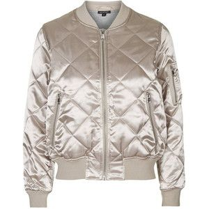 TopShop Shiny Quilted Bomber