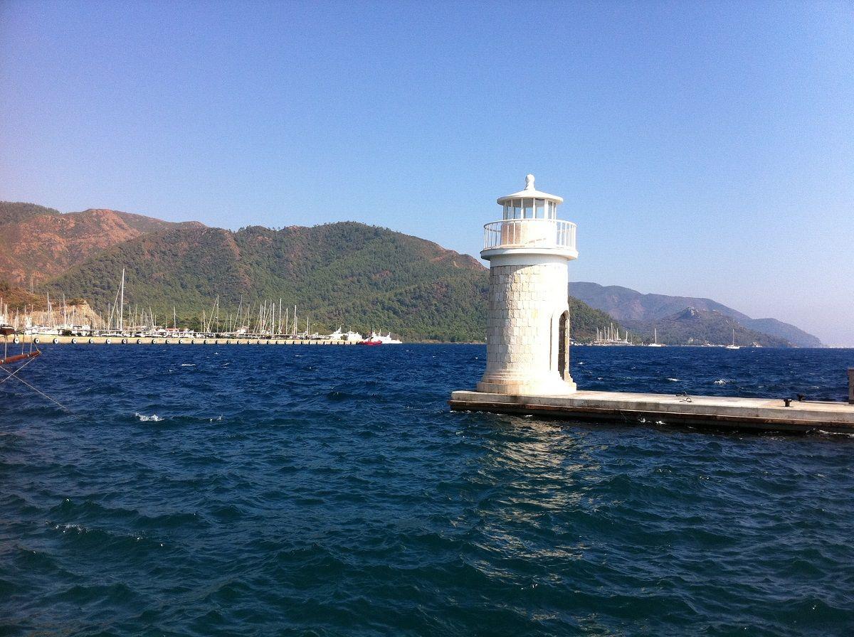 Marmaris Leuchtturm Am Yachthafen Tagesausflug Leuchtturm Und