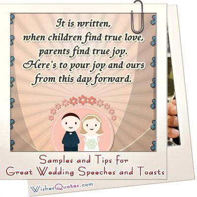 Samples and Tips for Great Wedding Speeches and Toasts #groomspeech