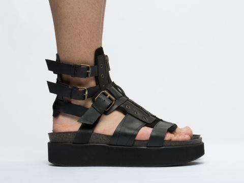 YES Watt Mens Platform Gladiator Sandal
