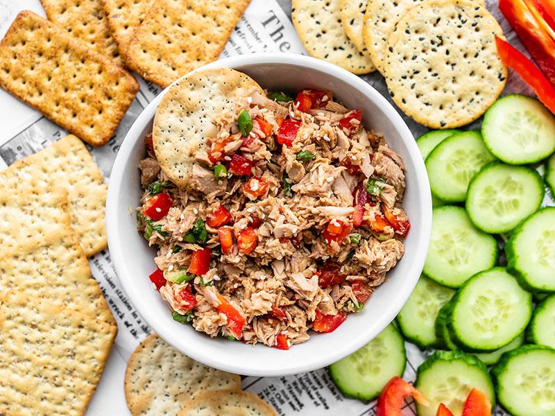 Sesame Tuna Salad Recipe - No Mayo - Budget Bytes   Recipe   Healthy tuna recipes, Tuna salad, Healthy snacks recipes