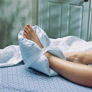 `Foot Pillows/Pair Padded by Heel--Elbow-Protectors. $35.00. Beds Accessories,Heel Elbow Protectors. Foot Pillows/Pair Padded. FOOT PILLOWS - PAIR * Provides relief of pressure for the feet heels and ankles whether in bed or wheelchair * One size fits all with Hook and Loop Closures *