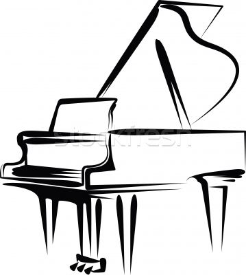 music notes clip art free stock foto vektor illustration rh pinterest ca free clipart piano keys piano images free clipart