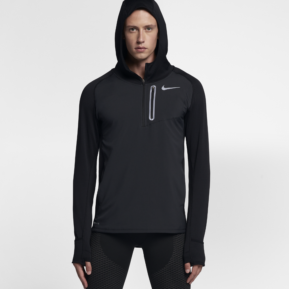 920983df1345 Nike Therma Sphere Element Hybrid Men s Running Hoodie Size Medium (Black)