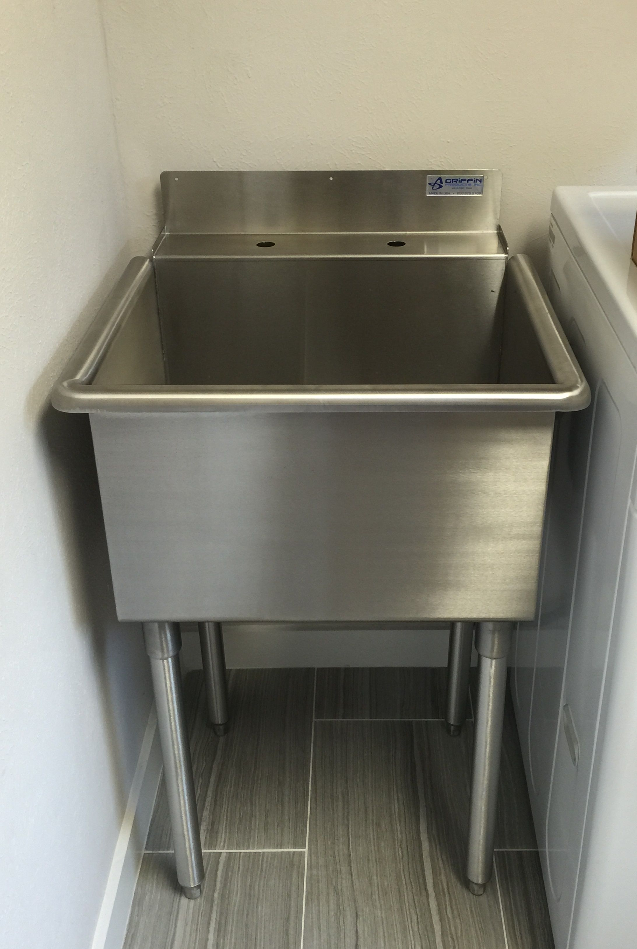 Griffin LT 118 Stainless Utility Sink / Laundry Sink * Made In The USA *